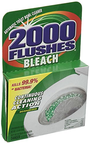 2000 Flushes Bleach Automatic Toilet Bowl Cleaner, 1.25 OZ