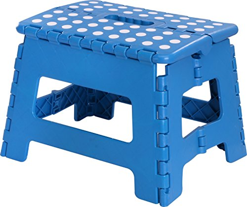 Utopia Home Foldable Step Stool for Kids - 11 Inches Wide and 8 Inches Tall - Holds Up to 300 lbs - Lightweight Plastic Design (Blue)