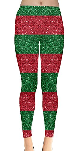 CowCow Womens Xmas Shine Leggings, Xmas - S