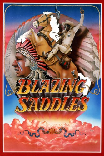 BLAZING SADDLES movie poster INDIAN HEADDRESS comedy 24X36 (reproduction, not an original)