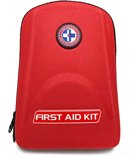 Be Smart Get Prepared 125 Piece First Aid Kit - Office, Home, Car, School, Emergency, Survival, Camping, Hunting, and Sports