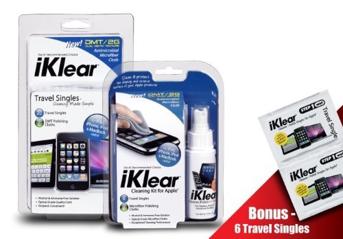 iKlear iPod Cleaning Kit and iKlear Travel Singles Combo Pack