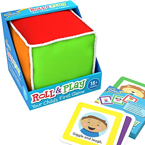 ThinkFun Roll and Play Game for Toddlers - Your Child's First Game! Award Winning and Fun Toddler Toy for Parents and Kids 18 Months and Older