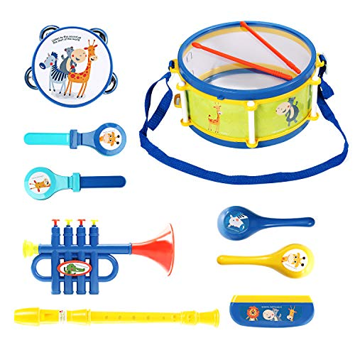 Eagle Stone Kids Drum Set Musical Toys for Toddlers, Baby Musical Instruments, Gifts for 18 Month 2 3 4 5 Year Old Boys and Girls