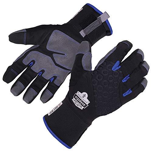 Ergodyne ProFlex 817WP Waterproof Work Gloves, Thermal Insulated, Touchscreen, Reinforced Palms, Black, Large