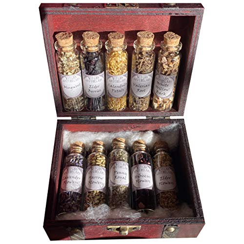 Apothecary Witchcraft Kit Expansion Pack Glass Bottles Herbs Travel Wiccan Altar Kit