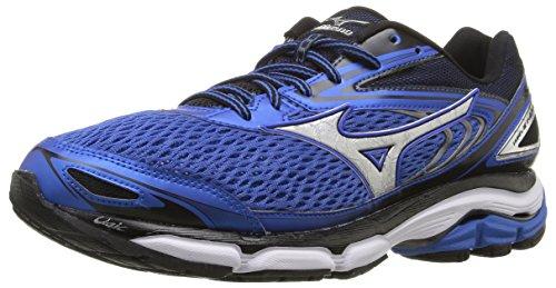 Mizuno Men's Wave Inspire 13 Running Shoe, Strong Blue/Silver, 8 D US