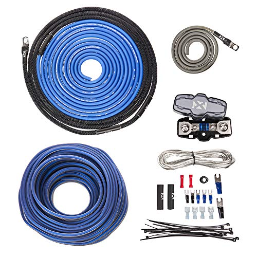 NVX True Spec 8 Gauge 100% Copper Single Amp Wiring Kit with Speaker Cable. RCA Not Included