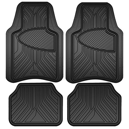 Custom Accessories Black Armor All 78846 Rubber Interior Floor Mat, 4 Piece