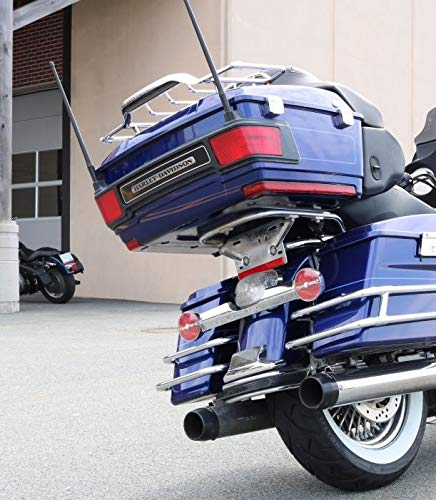 2-pack Short Whip Metal AM/FM/XM CB Antenna Mast for Harley Davidson 13 inch