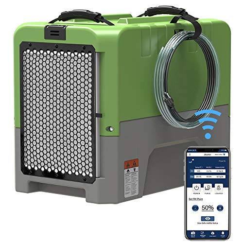 ALORAIR Smart WiFi LGR Dehumidifier with Hose, Commercial Dehumidifier with Pump, 5 Years Warranty, cETL Listed, up to 180 PPD (Saturation), 85 PPD at AHAM, Flood Repair, Green