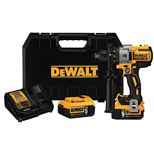 DEWALT 20V MAX XR Brushless Drill/Driver 3-Speed, Premium 5.0Ah Kit (DCD991P2)