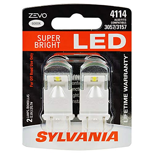 SYLVANIA - 4114 ZEVO LED White Bulb - Bright LED Bulb, Ideal for Daytime Running Lights (DRL) and Back-Up/Reverse Lights (Contains 2 Bulbs)