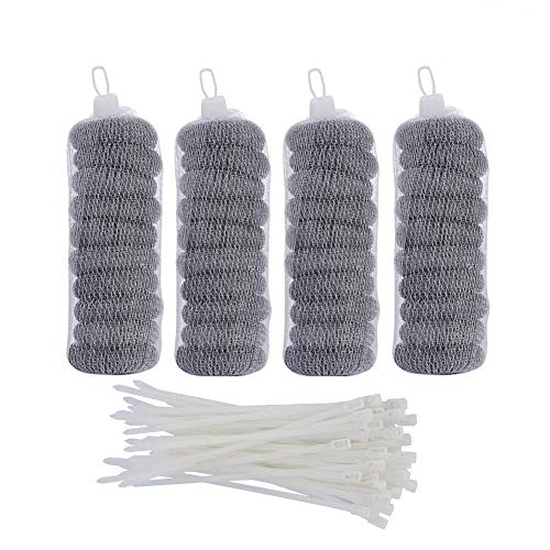 SUNHE 40 Pieces Lint Traps Washing Machine Lint Trap Snare Laundry Mesh Washer Hose Filter with 40 Pieces Cable Ties (40)