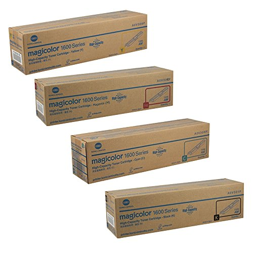Konica Minolta MAGICOLOR 1690MF High Yield Toner Cartridge Set