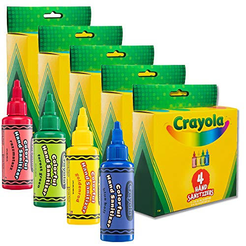 Crayola Hand Sanitizer for Kids, 4-Pack Antibacterial Gel Bottles for Back to School Supplies, 2 fl oz/ea (Pack of 5 x 4-Pack = 20 Units)