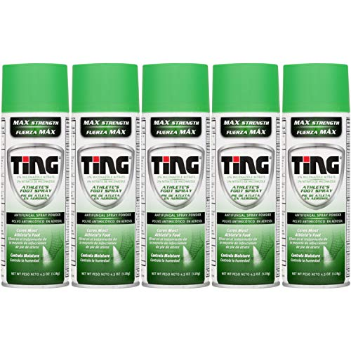 Ting Foot & Jock Itch, Antifungal Spray Powder 4.5 oz (128 g)(Pack of 5)