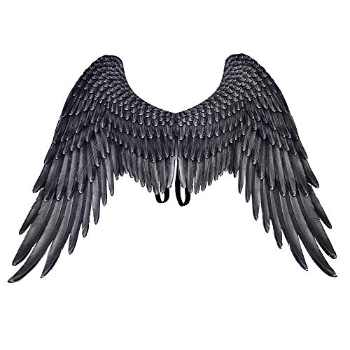 Himine Festive Party Angel Wings Suitable for Men and Women Decorative Wings (Black)
