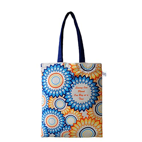 EcoRight Canvas Tote Bag for Women, Eco-friendly Handbags for Women, Girls | Floral | 0601G04