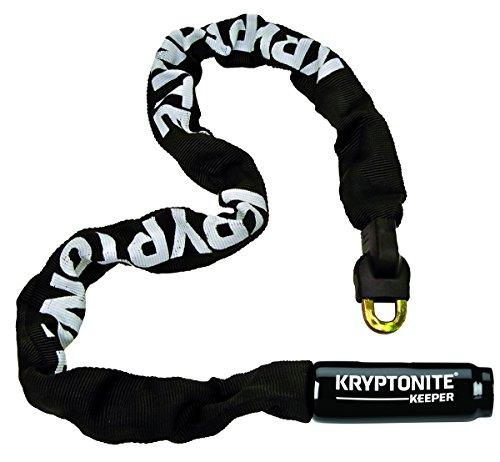 Kryptonite Keeper 785 Integrated Bicycle Lock Chain Bike Lock, 33.5-Inch, Black