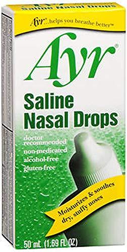 Ayr Saline Nasal Drops 50 mL (Pack of 2)