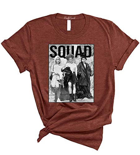 NuffSaid The Sanderson Sisters Squad HP T-Shirt - Funny Unisex Halloween Group Craft Tee (Small, Heather Clay)
