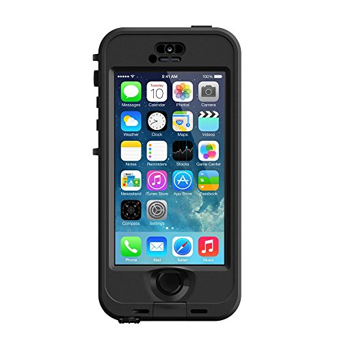 LifeProof NÜÜD SERIES Waterproof Case for iPhone 5/5s/SE - Retail Packaging - BLACK (BLACK/SMOKE)