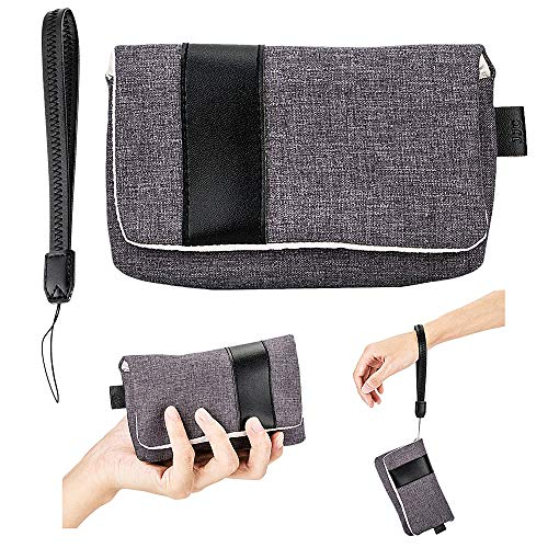 JJC Compact Camera Case Pouch for Canon G7X III II G9X II SX740 SX730 SX720 Sony RX100 VII VI VA V IV III II for Ricoh GRIII GR3 GRII GR for Olympus TG-6 TG-5 TG-4 3 2 1, with Wrist Strap - Grey