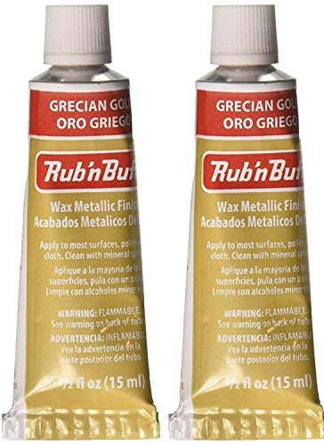Rub 'n Buff The Original Wax Metallic Finish (Grecian Gold) 2 pcs sku# 1835755MA