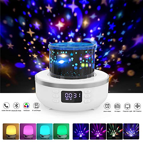 Night Lights for Kids, Star Night Light Projector with Built-in Speaker for Decorating Bedroom and Parties, 360° Rotating, Best Gift for Boys and Girls