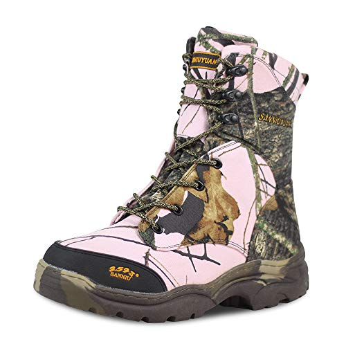 Ludey Camo Hunting Boots,Waterproof Insulated 8' Outdoor Hiking Boots,Breathable Military Tactical Combat Boots for Unisex 667A-Camo 10 US