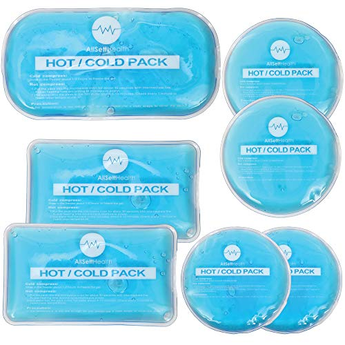 Reusable Hot and Cold Gel Ice Packs for Injuries | Cold Compress, Ice Pack, Gel Ice Packs, Cold Pack, Gel ice Pack, Cold Packs for Injuries | 7 Pack