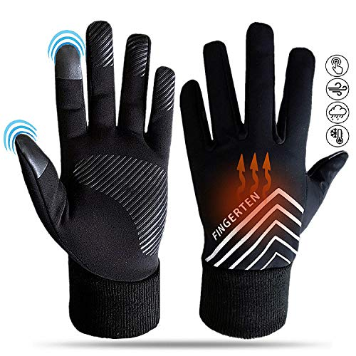 Winter Gloves Men Women Waterproof Touch Screen Grip in Pair, Anti-Slip Cold Weather Windproof Mittens Liners Outdoor Glove (Small)