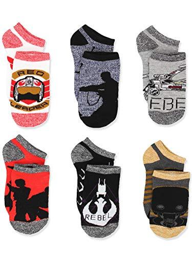 Star Wars Kids Teen Adult 6 pack Socks (Shoe: 10-4 (Sock: 6-8), Rogue One Grey)