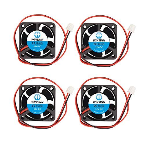 WINSINN 40mm Fan 12V Brushless 4020 40x20mm Cooling - High Speed (Pack of 4Pcs)