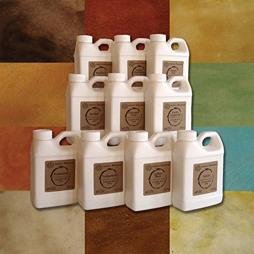 Official Concrete Acid Stain Sample Pack - 10 Bottles of 16oz Concrete Stain - Easy to use, Professional Quality