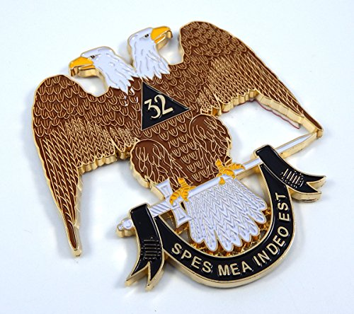 Car Chrome Decals Scottish Rite 32nd Degree 3' Metal Emblem 3D Freemason Masonic Decal MAS3