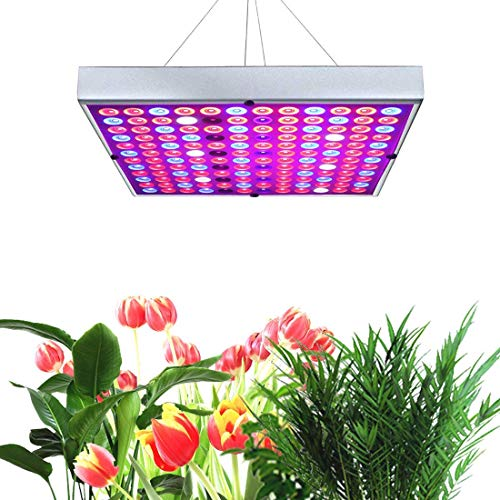 LED Grow Lights for Indoor Plants,Juhefa Panel Plant Light Full Spectrum with IR & UV Bulbs for Seedlings,Micro Greens,Clones,Succulents (Size:9.9x9.9inches)