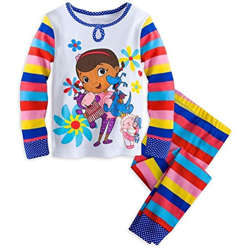 Disney Store Doc McStuffins Girl 2PC Long Sleeve Tight Fit Cotton Pajama Set Size 8
