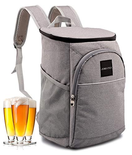 Insulated Cooler Bag Backpack Leakproof Lightweight Lunch Backpack, 20 Can(Grey)