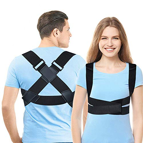 Posture Corrector for Men & Women, Upper Back Straightener Brace, Adjustable Posture Brace for Clavicle Support, Providing Pain Relief from Neck, Back and Shoulder Medium (31' - 40')