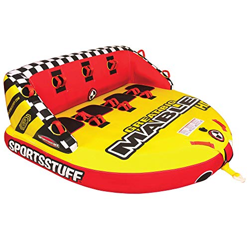 SportsStuff Great Big Mable HD | 1-4 Rider Towable Tube for Boating, Red/Yellow (53-2226)