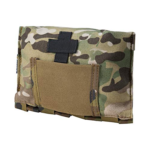IDOGEAR Blow-Out Medical Pouch Small Tactical Medic Pouch First Aid LBT9022 Style Empty Seal Medical Bag 500D Nylon (A:Multicam)