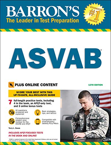ASVAB with Online Tests (Barron's Test Prep)