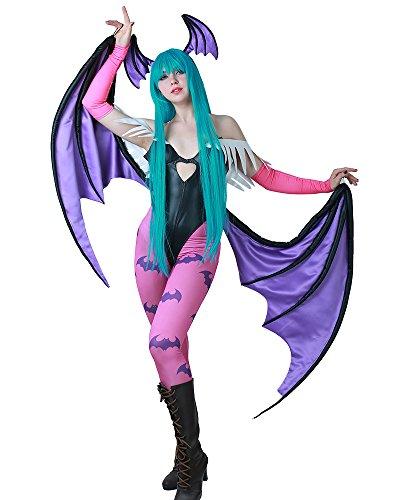 miccostumes Women's Morrigan Aensland Cosplay Costume with Wings Leggings (M)