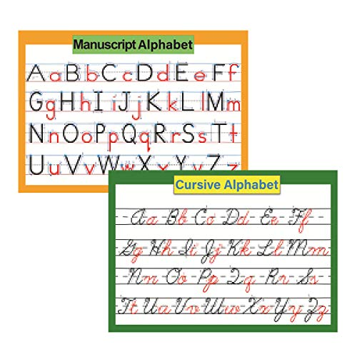 ABC Alphabet Cursive & Manuscript Chart Poster for kids | Classroom Decorations Organization learning charts for toddlers -16' x 23.6'