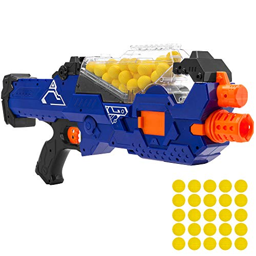 Best Choice Products Electric Motorized Soft Foam Ball Rapid Fire Blaster Toy w/Hopper Feeder, 20 Balls