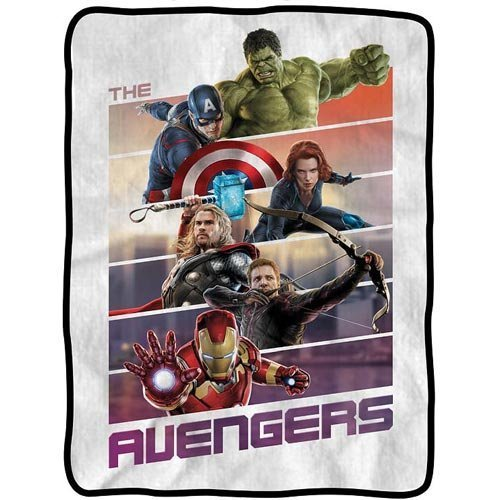 Surreal Entertainment Blanket - Marvel - Avengers Movie Team Panels Fleece New cfb-aum2-panels