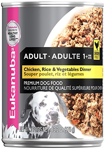EUKANUBA Adult Chicken with Rice & Vegetables Dinner Canned Dog Food 13.2 oz Can (Case of 12)