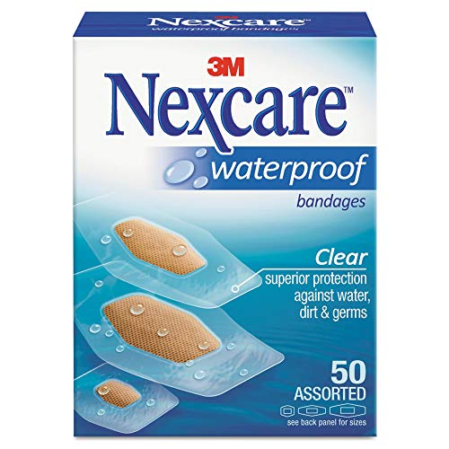 Nexcare - 9324 Waterproof Bandage, Assorted Size, Clear (packaging may vary)